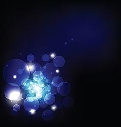dark light and bokeh background vector image