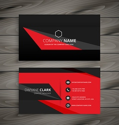 Dark red black business card vector
