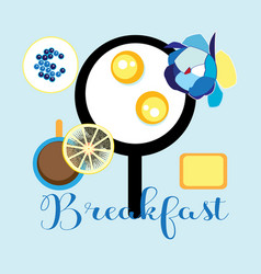 delicious fried eggs vector image