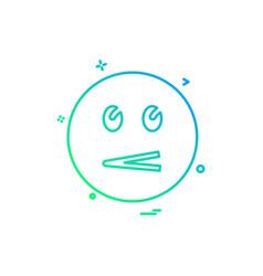 emoji icons design vector image
