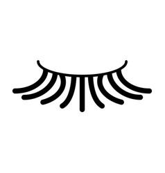 False simple eyelash icon black eyelash vector