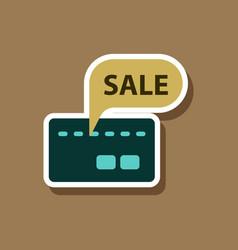 Fashion patch sale sticker bank card sale vector