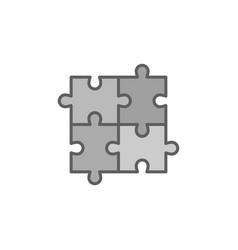 four piece puzzle concept icon or symbol vector image