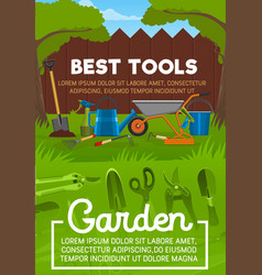 Garden tool backyard maintenance vector