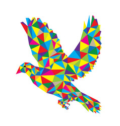 Geometric dove flying vector