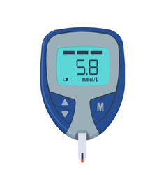 glucose test medical device for measure sugar in vector image
