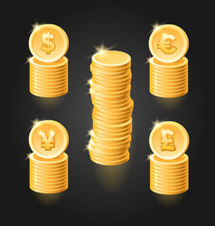 gold coin stack vector image