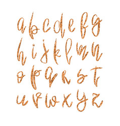 golden lowercase alphabet vector image