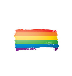 grunge rainbow flag isolated on white background vector image