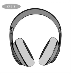 hand-drawn sketch of headphones 1 vector image