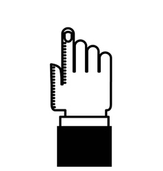 hand human index icon vector image