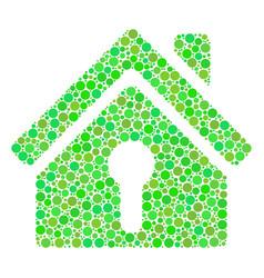 Home keyhole mosaic of circles vector