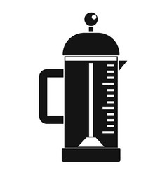 infusion coffee pot icon simple style vector image