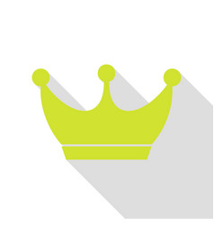 king crown sign pear icon with flat style shadow vector image