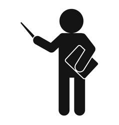 Lesson teacher icon simple style vector