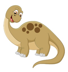Long neck dinosaur vector image