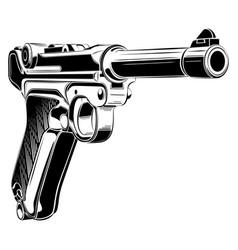 Luger p08 parabellum retro pistol vector