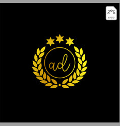 Luxury ad initial logo or symbol business company vector