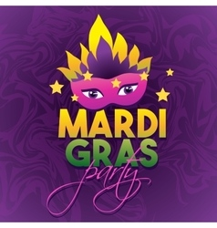 Mardi Gras Party Logo Poster Carnival type vector