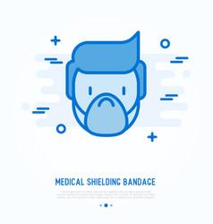 medical shielding bandage thin line icon vector image