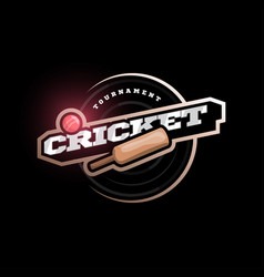 Modern professional typography cricket sport vector