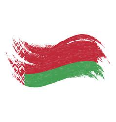 national flag of belarus designed using brush vector image