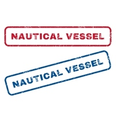 Nautical Vessel Rubber Stamps vector