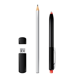 Pen flash pencil vector