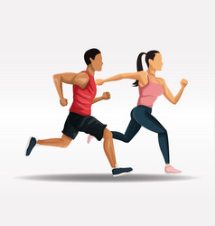 people running fitness lifestyle vector image