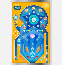 Pinball machine isolated vector