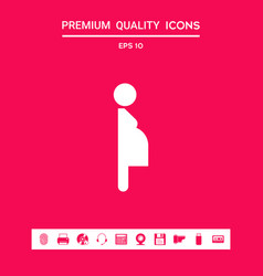pregnant woman icon graphic elements for your vector image