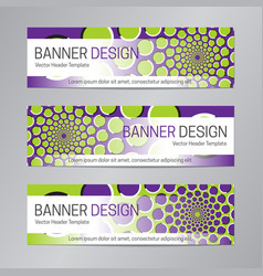 purple green banner design web header template vector image
