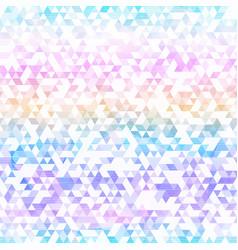 rainbow triangle seamless pattern vector image