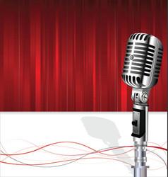 Retro vintage microphone karaoke party background vector