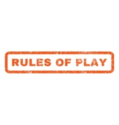Rules of play rubber stamp vector