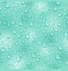 Seamless pattern of water drops vector
