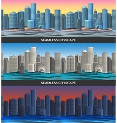 Seamless pattern with Cityscape vector image