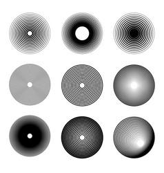 set sound wave ring icons design element vector image