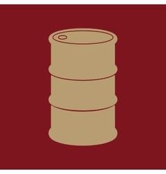 The barrel icon vector image
