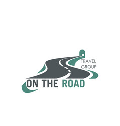 Travel group road tourism highway icon vector