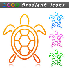 turtle symbol icon design vector image