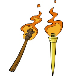 two torches vector image