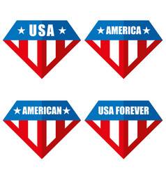 united states of america logos vector image