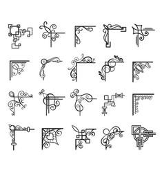 vintage decorative elements for design vector image