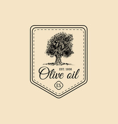 vintage extra virgin olive oil logo retro vector image