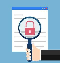 Vulnerability search seo optimizationweb analytics vector