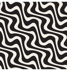 Wavy lines hand drawn pattern vector
