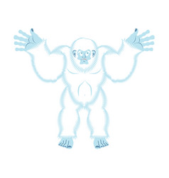 Yeti guilty bigfoot surprise abominable snowman vector