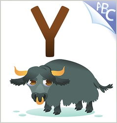 Animal alphabet for the kids Y for the Yak vector image
