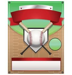baseball tournament flyer background vector image vector image